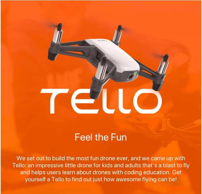 Hình ảnh Flycam Tello DJI