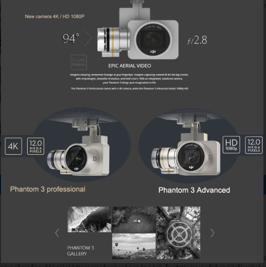 Camera của dji phantom 3 pro
